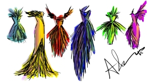 feather dresses